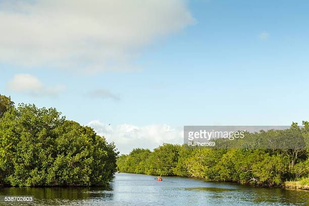 Couple with canoe in Everglades National Park