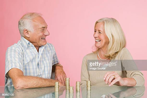 Couple with coins