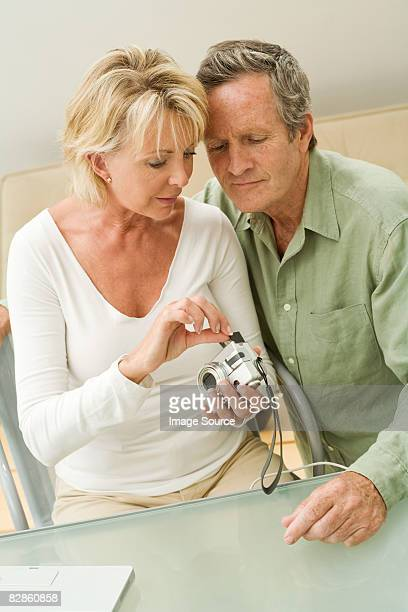 Couple with digital camera