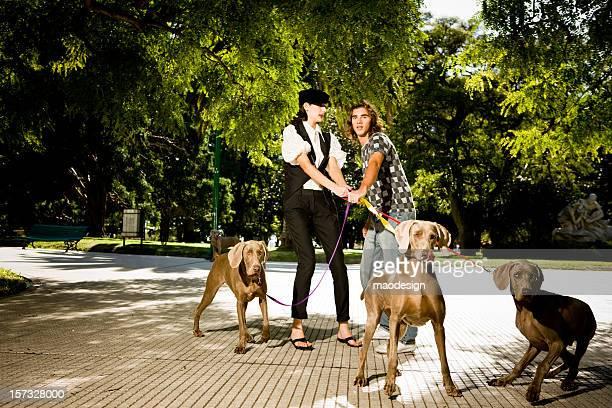 Casal com cães