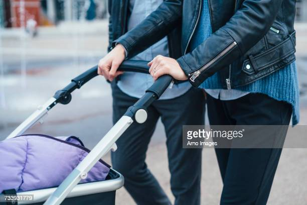 Couple with pram
