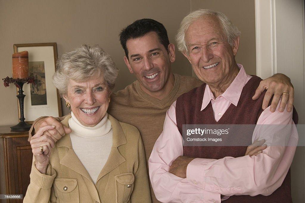 Couple with son : Stockfoto