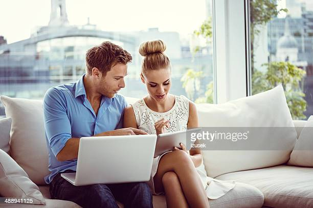 Couple with technologies