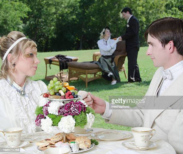 Couples at Victorian Tea Party