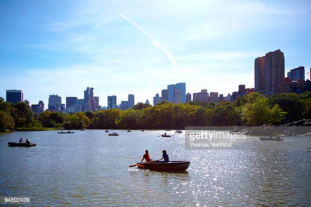 Couples Boating in Central Park