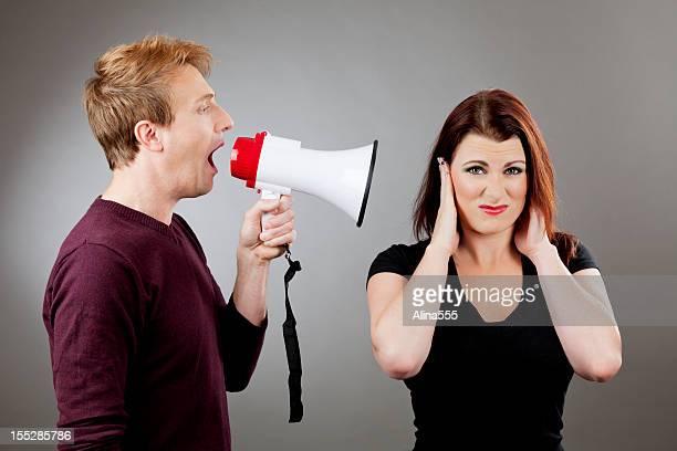 Couple's communication: man yelling at a woman