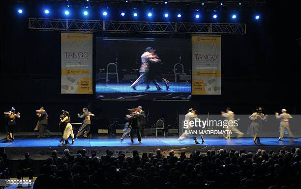 Couples compete in the second round of the Tango Salon competition final at the 9th Tango Dance World Championship in Buenos Aires on August 29 2011...