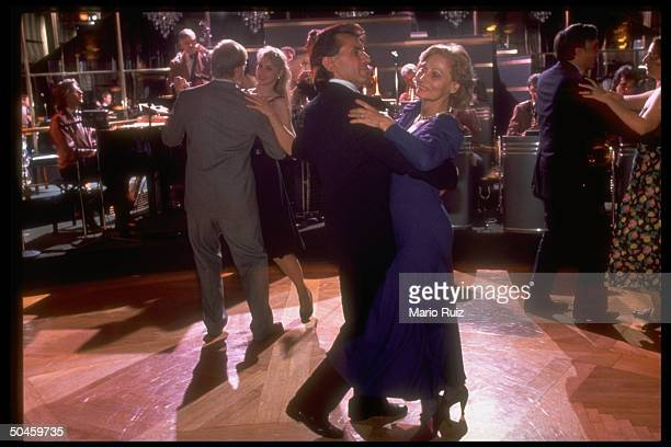 Couples dancing ballroom style at the recently renovated Rainbow Room nightclub