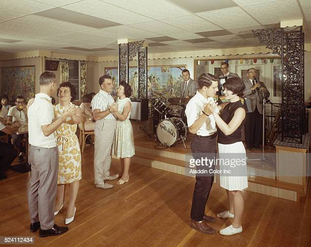 Couples dancing in the lounge at the Villa Leone Resort in the Catskills
