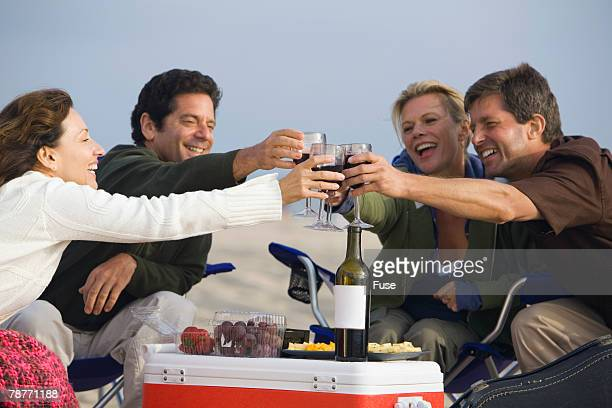 Couples Enjoying a Glass of Wine