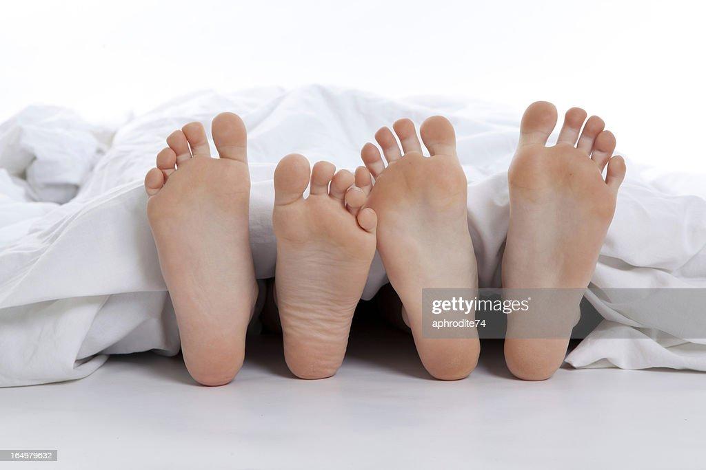 couple's feet : Stock Photo