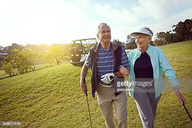 カップルのゴルフ