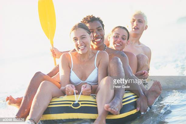 Couples in Inflatable Dinghy