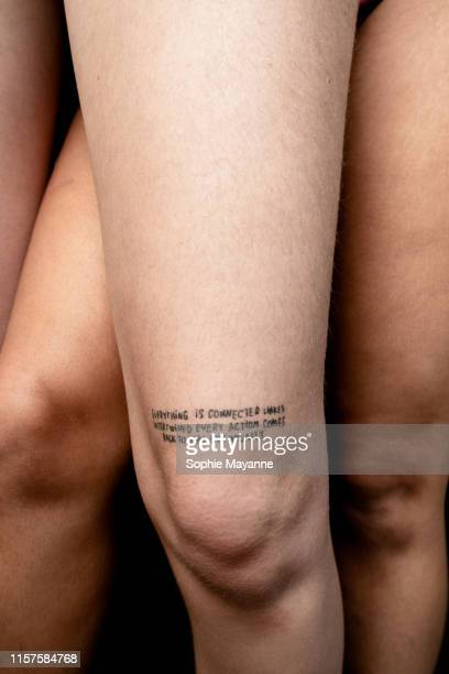A couples legs overlapping