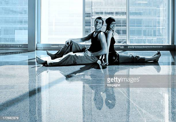 Couples relaxing
