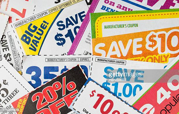 coupons - flyer leaflet stock photos and pictures