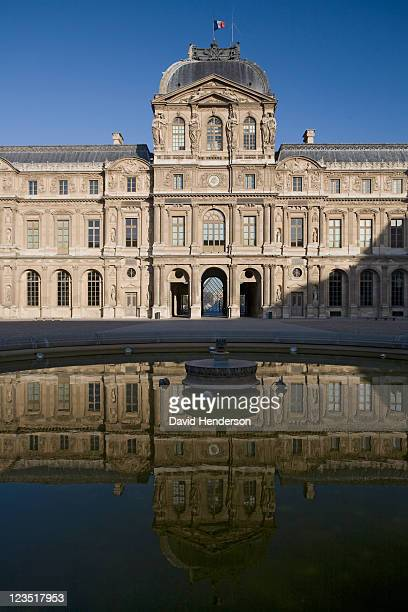 cour carree of the louvre, paris, france - クールカレ ストックフォトと画像
