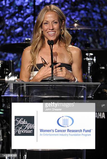Courage Award Honoree Sheryl Crow speaks onstage at the 15th Annual 'An Unforgettable Evening' Benefiting EIF's Women's Cancer Research Fund held at...