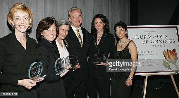Courageous Beginnings Awards Honoree television personality author and life coach Martha Beck PhD filmmaker Nicole Conn and mother of Nicholas...
