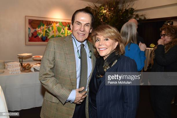 R Couri Hay and Judy Licht attend Joan Kron's 90th Birthday 'Take My NosePlease' Release Party at Michael's on January 7 2018 in New York City