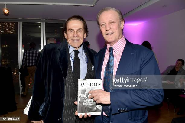 R Couri Hay and Patrick McMullan attend Barbara Tober hosts a party for 'AVEDON Something Personal' at Museum of Art and Design on November 15 2017...