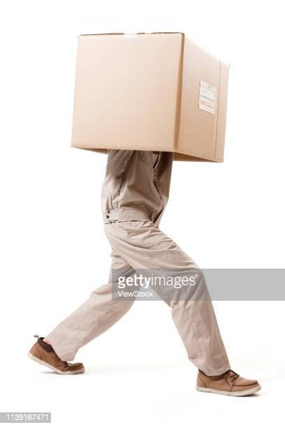 courier at work - カバーオール ストックフォトと画像