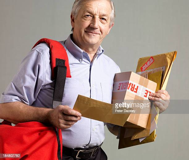 Courier/postman in sorting office