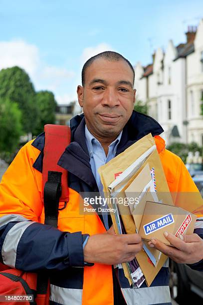 Courier/postman with mail