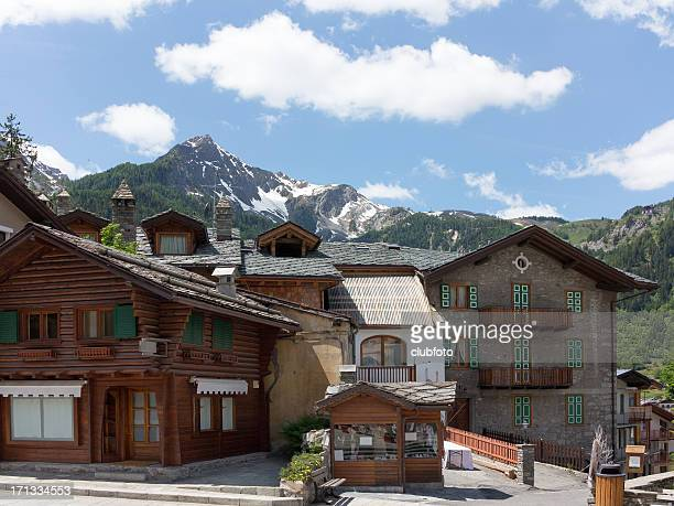 Courmayeur in Italy and Mont Blanc mountains