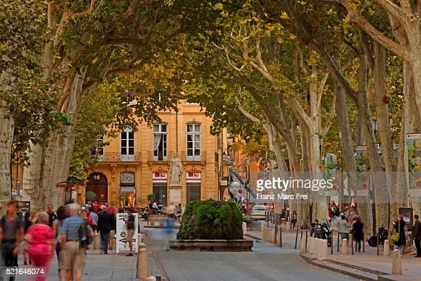 cours mirabeau, aix-en-provence, provence - aix en provence stock pictures, royalty-free photos & images