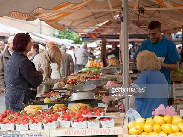 Cours Saleya Farmers Market Nice France Provence Cote D'Azur Europe