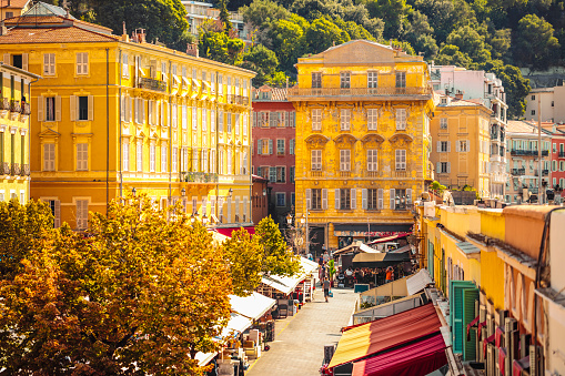 Cours Saleya flower market in Nice, France 1043760008