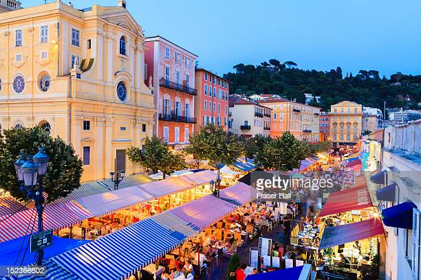 cours saleya, nice - nice france stock pictures, royalty-free photos & images
