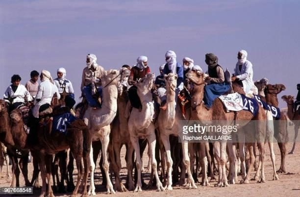 Course de dromadaires le 28 décembre 1990 à Douz en Tunisie