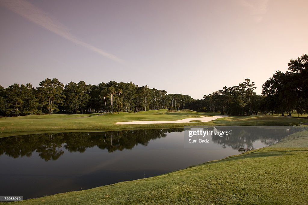 2007 - PGA TOUR - TPC Sawgrass - Completed  Clubhouse and THE PLAYERS Stadium Course scenics : News Photo