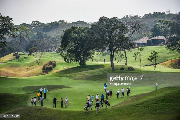 A course scenic of the 15th hole during the final round of the PGA TOUR Latinoamérica Guatemala Stella Artois Open at La Reunion Golf Resort Fuego...