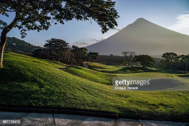 A course scenic of the 16th green during practice for the PGA TOUR Latinoamérica Guatemala Stella Artois Open at La Reunion Golf Resort Fuego Maya on...