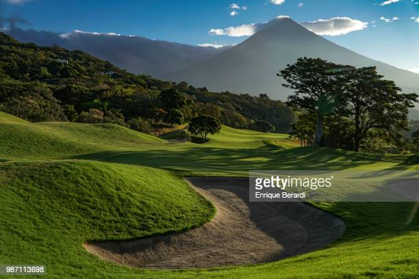 A course scenic of the 18th fairway during the first round of the PGA TOUR Latinoamérica Guatemala Stella Artois Open at La Reunion Golf Resort Fuego...