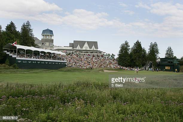 Course scenic of the 18th green during the fourth and final round of the Canadian Open held on the North Course at Angus Glen Golf Club in Markham,...