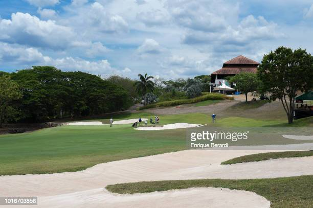 Course scenic of the 18th hole during the second round of the PGA TOUR Latinoamerica Costa Rica Classic at Reserva Conchal Golf Club on May 11, 2018...