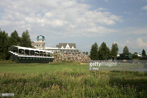 Course scenic of the 18th hole during the third round of the Canadian Open held on the North Course at Angus Glen Golf Club in Markham, Ontario,...