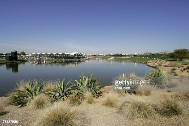 Course scenic of the 18th hole during the third round of the FBR Open held at TPC Scottsdale in Scottsdale Arizona on February 3 2007 Photo by Stan...