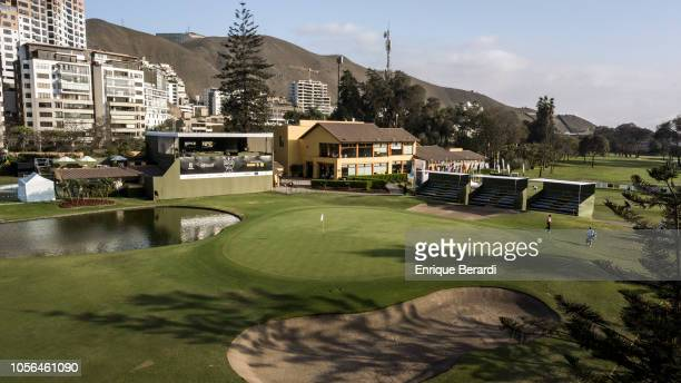 A course scenic of the 18th hole prior to the PGA TOUR Latinoamerica Diners Club Peru Open presentado por Lexus at Los Inkas Golf Club on October 17...