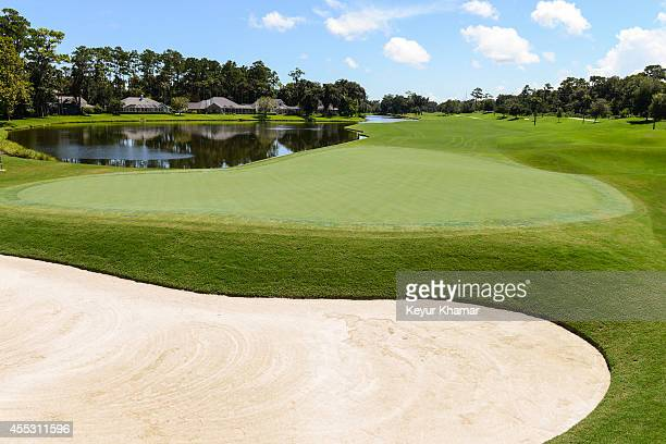 A course scenic of the ninth hole green which will play as the 18th hole during the Webcom Tour Championship at the Dye's Valley Course at TPC...