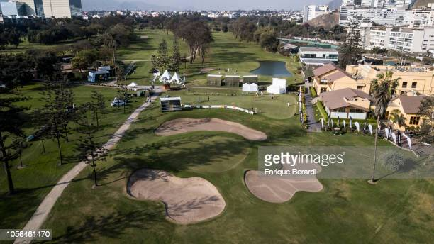 A course scenic of the ninth hole prior to the PGA TOUR Latinoamerica Diners Club Peru Open presentado por Lexus at Los Inkas Golf Club on October 17...