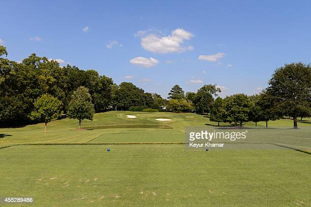 Course scenic of the second hole tee box at East Lake Golf Club on August 27, 2014 in Atlanta, Georgia. East Lake is the venue of the TOUR...