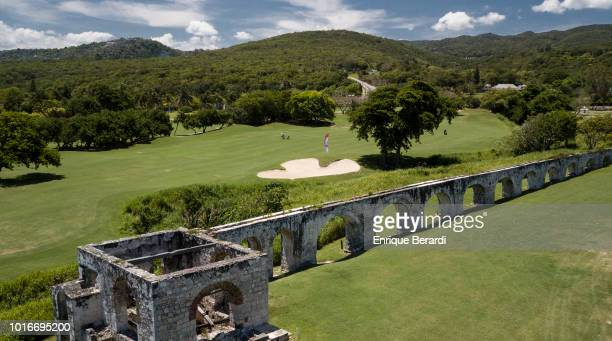 Course scenic of the seventh hole prior to the PGA TOUR Latinoamerica BMW Jamaica Classic at Cinnamon Hill Golf Course on May 2, 2018 in Montego Bay,...