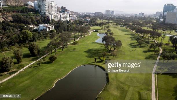 A course scenic prior to the PGA TOUR Latinoamerica Diners Club Peru Open presentado por Lexus at Los Inkas Golf Club on October 17 2018 in Lima Peru
