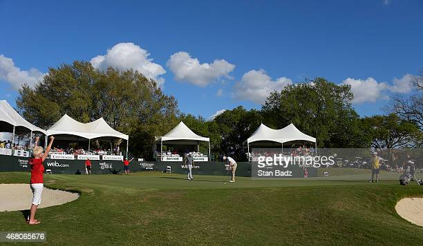 A course scenic shot of the 18th hole during the final round of the Webcom Tour Chitimacha Louisiana Open presented by NACHER at Le Triomphe Golf and...