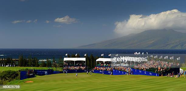 A course scenic shot of the 18th hole during the second round of the Hyundai Tournament of Champions at Plantation Course at Kapalua on January 4...